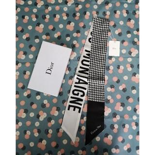 クリスチャンディオール(Christian Dior)の黒 シルクスカーフ ディオール(バンダナ/スカーフ)
