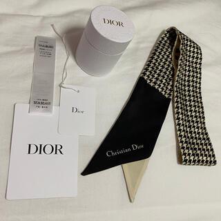 Dior - Dior ミッツァ スカーフ 千鳥格子
