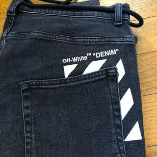 OFF-WHITE - off-white ブラック スキニー デニム