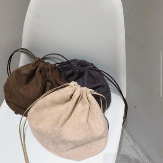 トゥデイフル(TODAYFUL)の【美品】TODAYFUL スエードサークルバッグ 巾着バッグ 手さげバッグBAG(ハンドバッグ)