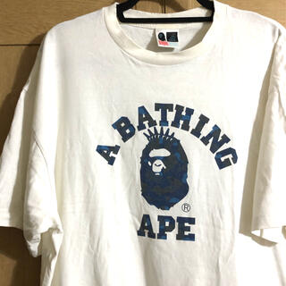アベイシングエイプ(A BATHING APE)のBAPE カレッジ ロゴ tシャツ(Tシャツ/カットソー(半袖/袖なし))