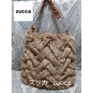 ズッカ(ZUCCa)のズッカ zucca 本革コンビ/大型もこもこトートバッグ(トートバッグ)