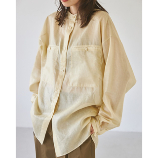TODAYFUL - Organdy Over Shirts クリーム