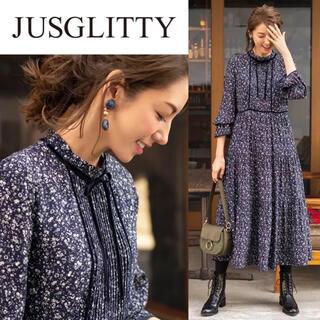 JUSGLITTY - 【美品】今季 ジャスグリッティー フラワーワンピース 花柄 アプワイザーリッシェ