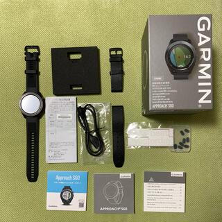 ガーミン(GARMIN)の極美品 ガーミンアプローチS60 セラミック ゴルフウォッチ GPS 腕時計(その他)