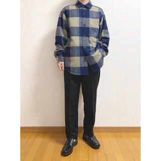 ユニクロ(UNIQLO)のユニクロ UNIQLO オーバーシャツジャケット ブロックチェック バッファロー(ブルゾン)