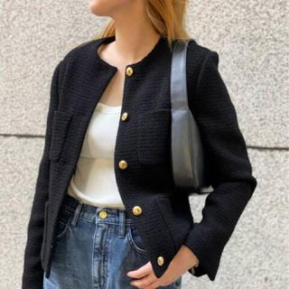 ドゥーズィエムクラス(DEUXIEME CLASSE)の新品 Deuxieme Classe Garconne Tweed ジャケット (ノーカラージャケット)