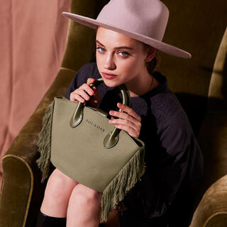 ALEXIA STAM - Side Fringe Bag Khaki