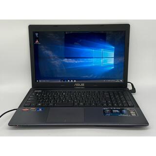 エイスース(ASUS)のWindows10 ASUS ブラック ノートパソコン オフィス(ノートPC)