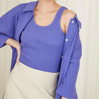 シールームリン(SeaRoomlynn)のSeaRoomlynn 定価¥9790 新品 ランダムRIBルーズシャツ(シャツ/ブラウス(半袖/袖なし))
