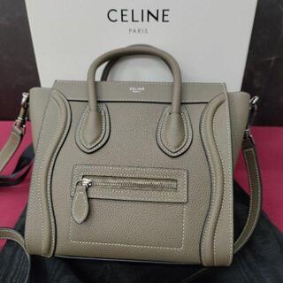 celine - CELINE セリーヌ ラゲージ ナノショッパー スリ 2WAYバッグ グレー
