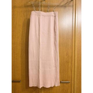 ジーユー(GU)のcan様☺︎ GU リブニットスカート XS(ロングスカート)