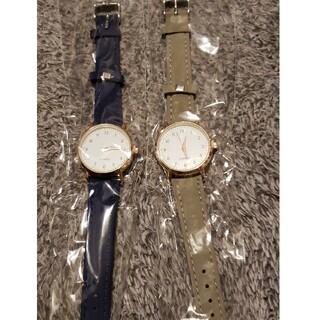 腕時計 ベージュ ネイビー 新品