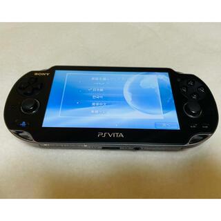 プレイステーションヴィータ(PlayStation Vita)のPS Vita PCH-1100 クリスタルブラック 動作確認済み (家庭用ゲーム機本体)