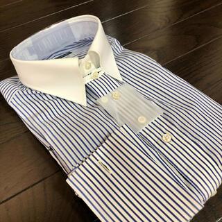 定価1.4万 麻布テーラー購入 ドレスシャツ イタリア ALBINI生地 日本製