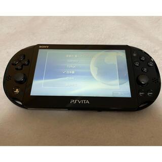 プレイステーションヴィータ(PlayStation Vita)の☆美品☆ PSVita PCH-2000 ZA11 SONY ブラック 本体(家庭用ゲーム機本体)