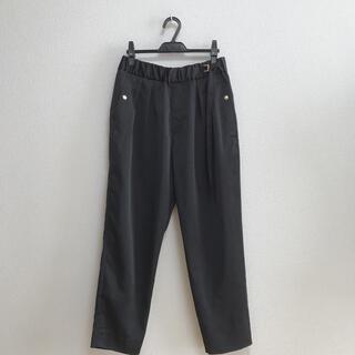 STUDIOUS - CULLNI/クルニ◆サテン スラックスパンツ 1 黒 タイパンツ