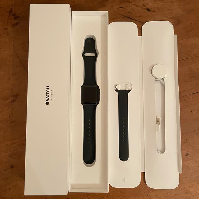 Apple Watch(アップルウォッチ)のApple Watch series3 38mm(GPSモデル)美品 メンズの時計(腕時計(デジタル))の商品写真