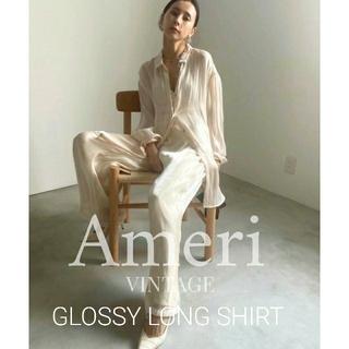 Ameri VINTAGE - AMERI  GLOSSY LONG SHIRT シアーシャツ
