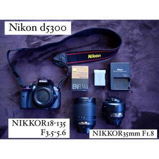 Nikon - Nikon d5300/NIKKORレンズ2本(35mm単焦点、18-135)