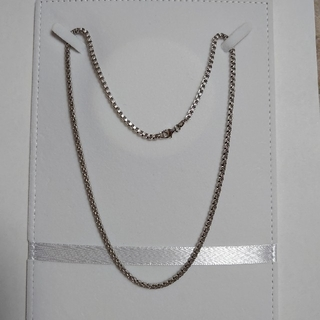 K18WG 750 ネックレス ベネチアンチェーン 約50cm
