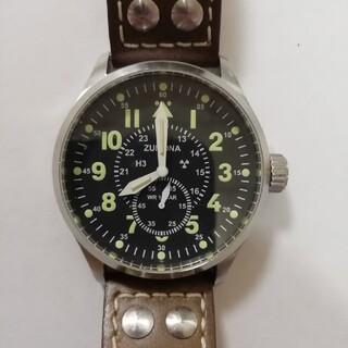 メンズ腕時計 ミリタリーウオッチ ZUMONA 稼働中 トリチウム搭載