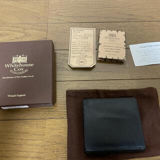 ホワイトハウスコックス(WHITEHOUSE COX)のホワイトハウスコックス 黒×ナチュラル(折り財布)