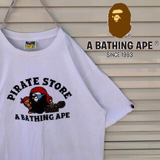アベイシングエイプ(A BATHING APE)の送料無料!! アベイジングエイプ 激レア デカロゴ ゆるだぼ 00s Tシャツ(Tシャツ/カットソー(半袖/袖なし))