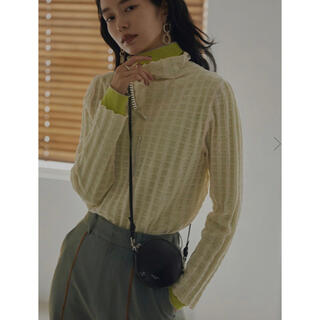 Ameri VINTAGE - 21/AW アメリヴィンテージ PLAID SHEER TURTLE KNIT