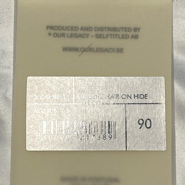 Jil Sander(ジルサンダー)の【our legacyアワーレガシー】レザー ハラコ イタリアレザー メンズのファッション小物(ベルト)の商品写真
