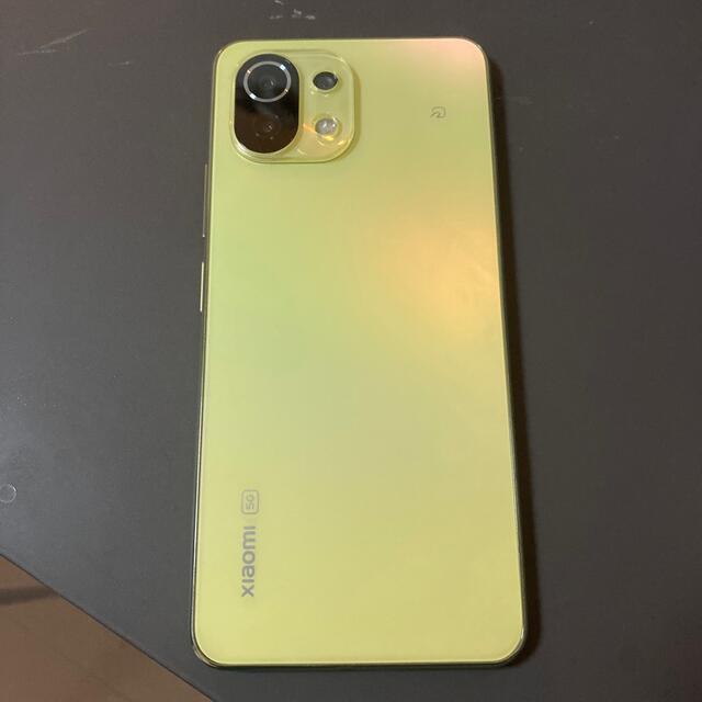 ANDROID(アンドロイド)のxiaomi mi 11 light 5G 128G シトラスイエロー スマホ/家電/カメラのスマートフォン/携帯電話(スマートフォン本体)の商品写真
