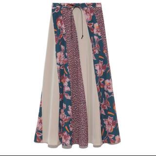 リリーブラウン(Lily Brown)のLily Brown♡パッチワークスカート(ロングスカート)