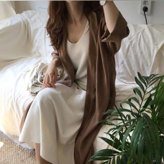 ジャスグリッティー(JUSGLITTY)のシャツワンピース 羽織や薄手のコートにも❣️(ロングワンピース/マキシワンピース)