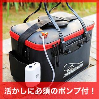 エアポンプ付き 大容量バッカン 釣りバケツ 折りたたみ 釣り用 活かし 23L