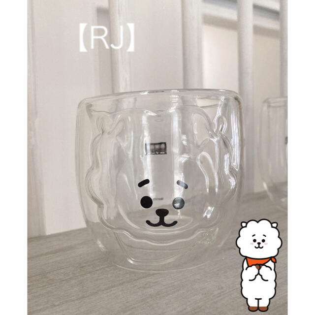 防弾少年団(BTS)(ボウダンショウネンダン)の可愛い!!♡ BTS BT21 ダブルウォールグラス  インテリア/住まい/日用品のキッチン/食器(グラス/カップ)の商品写真