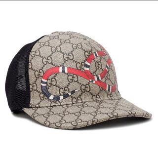 Gucci - GUCCI グッチ GGスプリーム ベースボールキャップ 帽子 スネーク