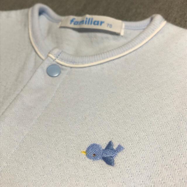 familiar(ファミリア)のファミリアロンパース 70 キッズ/ベビー/マタニティのベビー服(~85cm)(ロンパース)の商品写真