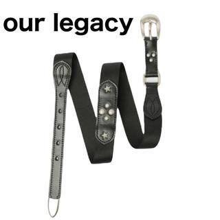 Saint Laurent - 【our legacyアワーレガシー】レザー スタッズベルト ナイロン ブラック