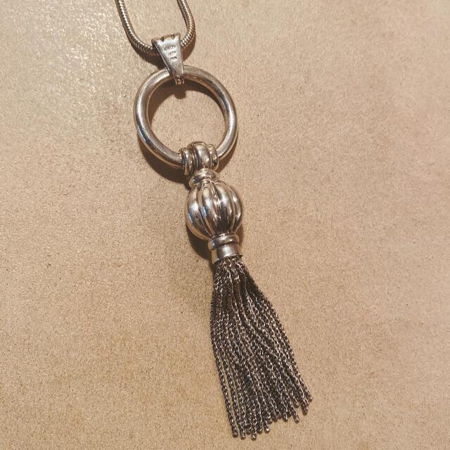 Tiffany & Co.(ティファニー)のビンテージ TIFFANY タッセル ネックレス スネークチェーン ペンダント メンズのアクセサリー(ネックレス)の商品写真
