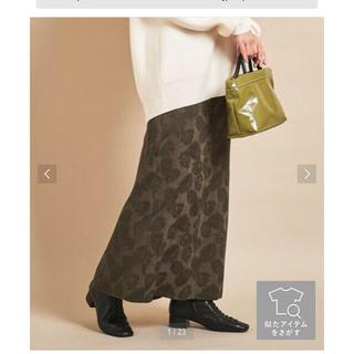 ユナイテッドアローズ(UNITED ARROWS)の新品 ビューティ&ユース Iライン サテンロングスカート M(ロングスカート)