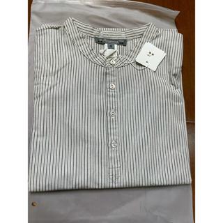 ボンポワン(Bonpoint)のおまとめ ボンパワンのストライプシャツ 8A caramel コート (ブラウス)