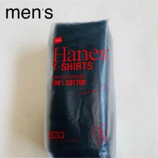 Hanes - Hanes ヘインズ クールネック ジャパンフィットTシャツ2枚入り 黒Mサイズ