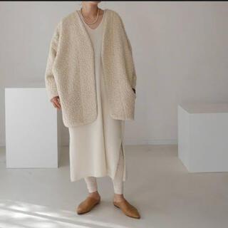 ドゥーズィエムクラス(DEUXIEME CLASSE)のargue Italy fur pile boa coat/sugerwhite(毛皮/ファーコート)