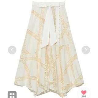 リリーブラウン(Lily Brown)のlily brown ♡ エンブロイダリーレーススカート(ロングスカート)