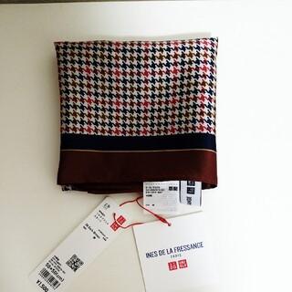 ユニクロ(UNIQLO)の⭐新品・タグ付き⭐【ユニクロ】イネス コラボ シルクプリントスカーフ(バンダナ/スカーフ)