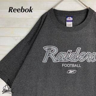 リーボック(Reebok)の《チームロゴ》Reebok リーボック レイダース XXXLダークグレー 灰色(Tシャツ/カットソー(半袖/袖なし))