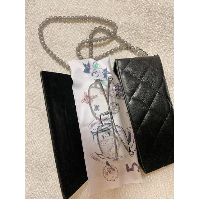 CHANEL(シャネル)のMILIYAH30様専 ⭐︎CHANEL パール付きメガネ(度無し) レディースのファッション小物(サングラス/メガネ)の商品写真