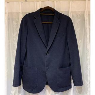 ユニクロ(UNIQLO)のUNIQLO  春•秋使用 薄手ジャケット 紺色(その他)