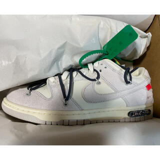 OFF-WHITE - NIKE dunk low off white 26