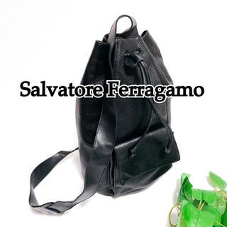 Salvatore Ferragamo - 美品 希少 サルヴァトーレ フェラガモ ショルダー 巾着 DF-21 5682